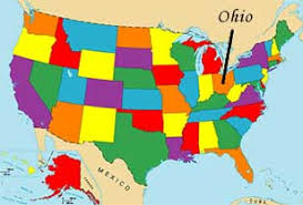 ohio on the map of usa ohio state map usa my
