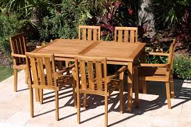 table and 6 chairs for sale sale 60in rectangular table u0026 6 bay armchair teak set oceanic