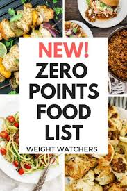 new weight watchers zero points food list freestyle plan