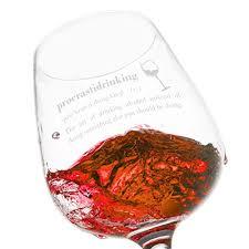 novelty wine glasses gifts vino depot procrastidrinking novelty wine glass 12 75 oz