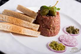 cuisine steak beef steak tartare with toast brasserie9 cuisine