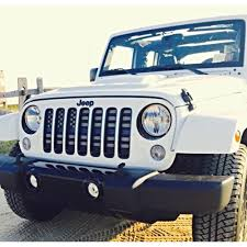 jeep wrangler front grill under the sun inserts thin blue line wrangler jk grille insert