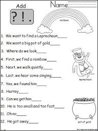 punctuation worksheets 1st grade free worksheets library