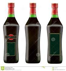 martini red green bottle of red martini royalty free stock photos image