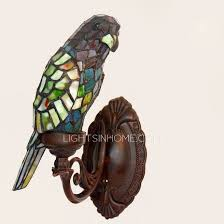 Stained Glass Wall Sconce Stained Glass Wall Sconce Parrot Shaped Stained Glass Shade
