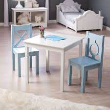 lipper childrens table and chair set lipper hugs and kisses table and 2 chair set white blue