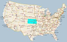 usa map kansas state reference map of kansas usa nations project kansas state