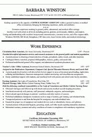 Resume Template For Office Assistant Sample Resume For Medical Office Assistant Medical Office
