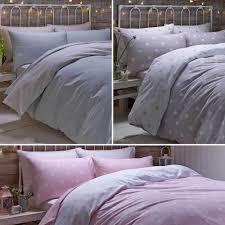 flannelette 100 brushed cotton spot fitted sheet set or duvet