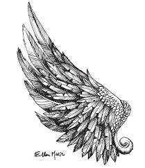 ellen marie art wing tattoo