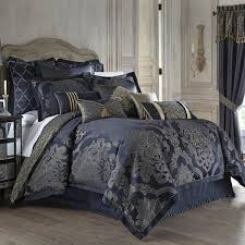 Damask Print Comforter Bed Linen Amusing Navy And Silver Bedding Gray Or Silver