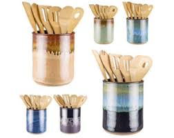 kitchen utensil canister utensil holder etsy