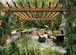 Flagstone Patio With Pergola Create An Outdoor Oasis You U0027ll Never Want To Leave Home Bunch
