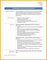 Warehouse Responsibilities Resume 100 Logistics Responsibilities Resume Car Insurance Manager