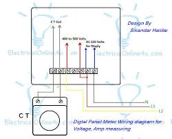 digital multi voltmeter ammeter hz wiring with diagram