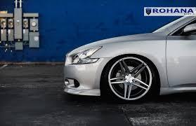 custom nissan maxima stanced nissan maxima on rohana rc 8 custom wheels u2014 carid com gallery