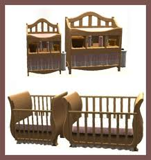 Crib And Changing Table Mod The Sims One Tile Free Time Cribs And Changing Table