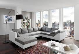 sofa grau weiãÿ sam sofa grau weiß wohnlandschaft phil 183 x 315 x 243 cm