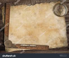 Blank Pirate Treasure Map by Old Treasure Map Background Compass Wood Stock Photo 257457106