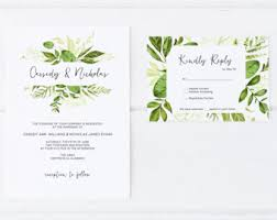 wedding invitations greenery rustic eucalyptus greenery wedding invitations set printable