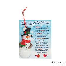 meaning of the snowman ornaments on card