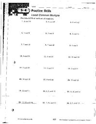 all worksheets least common multiple worksheets printable