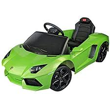 lamborghini toddler car amazon com lamborghini aventador 6v electric battery powered