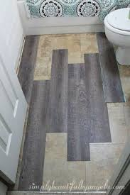 Vinyl Plank Flooring In Bathroom Vinyl Plank Bathroom Floor Budget Friendly Modern Vinyl Plank