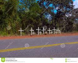roadside memorial crosses roadside memorial editorial photography image of transportation