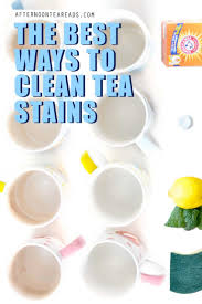 what is the best way to clean stained wood cabinets the best ways to easily clean tea stains from mugs