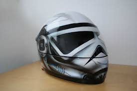 airbrushed motocross helmets storm trooper helmet anyone see am increase in helmets like this