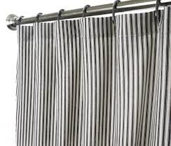Brown Ruffle Shower Curtain by Coffee Tables Red Ticking Stripe Shower Curtain Ticking Stripe