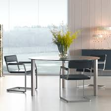 occhio round glass dining table 1360mm clear glass beyond furniture