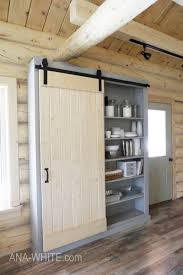 barn door for kitchen cabinets barn door cabinet or pantry white