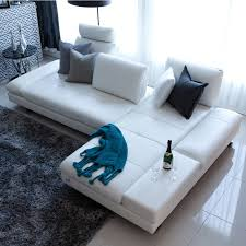 canapé l canapé en cuir véritable salon transversale canapé coin meubles de