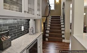 Kitchen Nice Black Slate Subway Backsplash Tile Idea Backsplash