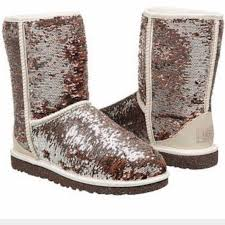 39 ugg boots ugg authentic sparkles chagne boots sz 11