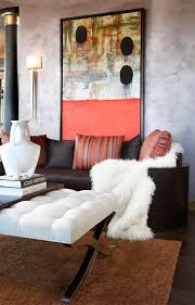 Brown Sofa Throw Sheepskin Throw Living Room Modern With Abstract Art Brown Sofa