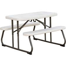 lifetime fold away picnic table lifetime kids picnic table almond walmart com