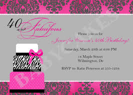 birthday invites best 40th birthday invitations designs 40th