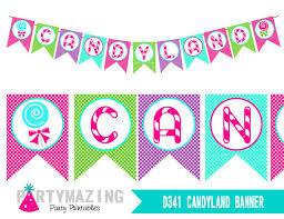 candyland banner printable birthday banner sweet shoppe banner