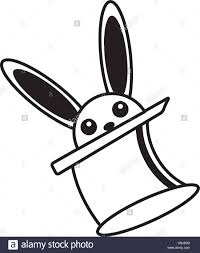 magician hat rabbit ears icon stock photos u0026 magician hat rabbit