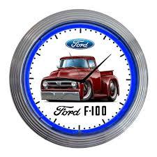 1953 ford f 100 f100 pickup truck classic neon clock new ebay