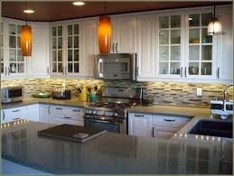 White Kitchen Cabinets With Glass Doors Kitchen Beautify The Kitchen By Using Corner Kitchen Cabinet