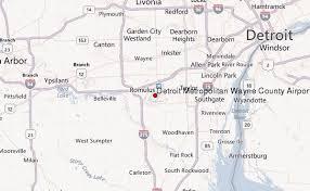 detroit metro airport map detroit metropolitan wayne county airport location guide