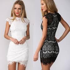 black and white lace dress short black dress pants