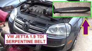vw jetta golf bora mk5 mk4 tdi 1 9 pd serpentine belt replacement
