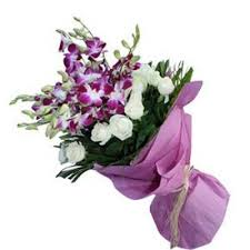 Orchid Bouquet Stunning Blue Orchid Bouquet