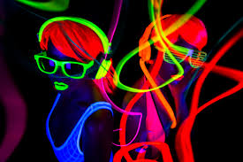 glow party a glow party with a bounce limitless troline park swansea