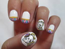 beauty and the beast u0027s mrs pots and chip nail art my nails